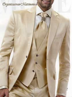 abito sposo beige